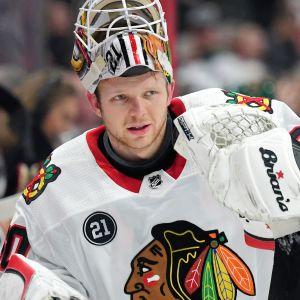 Collin Delia som förra säsongen fick spela 16 NHL-matcher har i år kämpat om speltid med Kevin Lankinen.