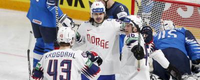 Norge firar mål i ishockey-VM.
