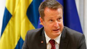 Sveriges inrikesminister Anders Ygeman/Bryssel november 2015