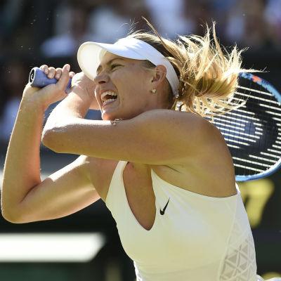 Maria Sjarapova spelade senast i Wimbledon i juni.