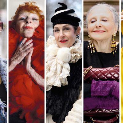 Vasemmalta: Jacquie, Debra, Liona, Tziporah, Joyce ja Lynn, henkilöitä dokumentista New Yorkin tyylikuningattaret