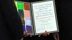 EU fick Nobels fredspris år 2012