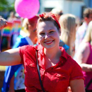 Karin Blomqvist på Åland Pride