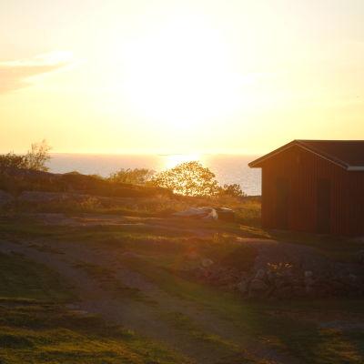 Solnedgång på Utö.
