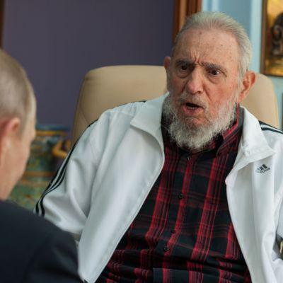 Rysslands president Vladimir Putin träffade Kubas långvariga ledare Fidel Castro i Kuba den 11 juli 2014.