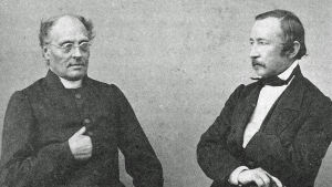Runeberg och Topelius, porträtt