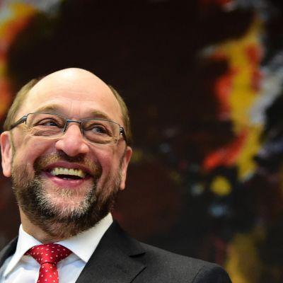 Martin Schulz på SDP:s gruppmöte 25.1.2017.