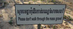 Dödens fält där Röda khmererna avrättade folk