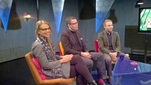 Sofia Kilpikivi, Pekka Pohjakallio, Teemu Paajanen Prisma Studiossa