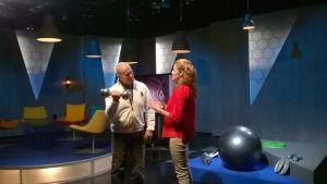Matti Halonen ja Marjo Harju Prisma Studiossa