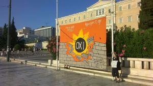 Demonstrationer i Aten.