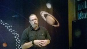 Markus Hotakainen avaruusmessuilla