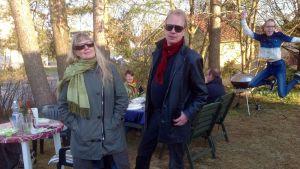 Under inspelning av Sandström