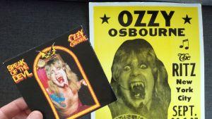 Ozzy osbourne Speak of the devil cd + konsertplansch för samma gig