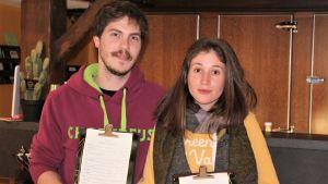 Krögarna Yannick Cyngiser och Andrea Bicha har övergått till att servera hämtat.