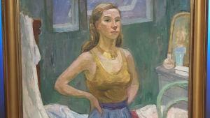 Självporträtt av Tove Jansson 1942