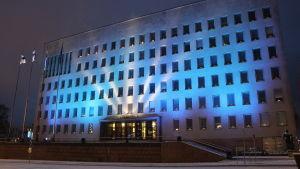 Kotka stadshus på självständighetsdagen 2017.
