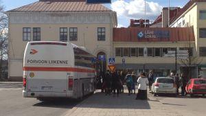 Buss på väg från Borgå till Helsingfors