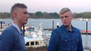 Bröderna Richard och Fredrik Jensen sommaren 2014.