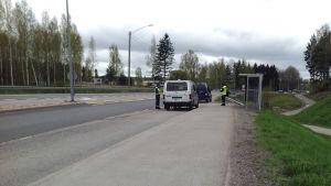 Tullen övervakar trafiken i Borgå.