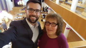 Johan Kvarnströms selfie tillsammans med sin mamma Birgit Kvarnström.
