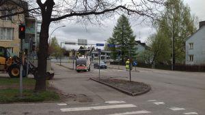 Asfaltering i Borgå.