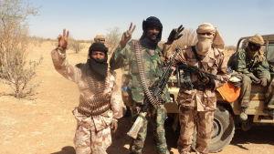 Tuaregrebeller i norra Mali 2012.