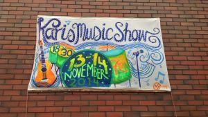 Karis Music Show ordnas 13-14 november 2014 på Tryckeriteatern