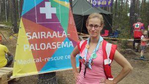Camilla Böckelman är ansvarig lägerläkare på Roihu 2016