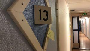 Rum nummer tretton i boende för unga asylsökande i Västerskog