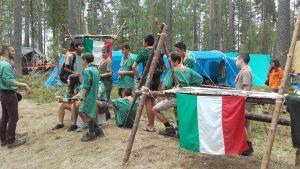 Italienska scouter på Roihu 2016