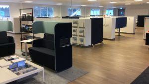 Kontorslandskapet i Sabiks nya lokaliteter