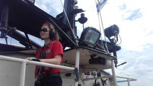 Maria Arvonen är däcksman på båten PV Rautauoma