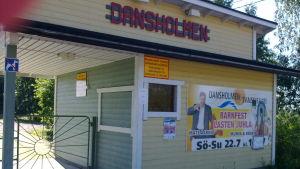 Ingången till Dansholmen i Borgå.
