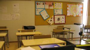 Bild av ett tomt klassrum