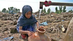 Översvämningsoffer i Pakistan