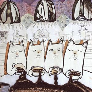 Nadja Anderssons diskande katter en gång till. 2015.