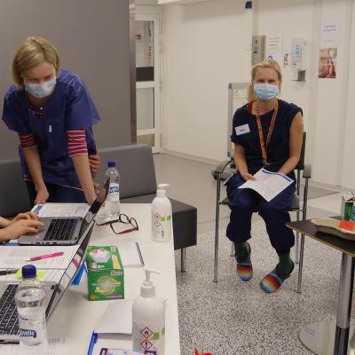 Koronarokotus Etelä-Karjalan keskussairaalassa
