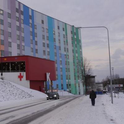 Etelä-Karjalan keskussairaala. Päivystys/ opasteet.