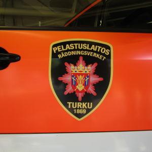 Brandbil vid Egentliga Finlands räddningsverk i Åbo.