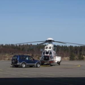 Gränsbevakningens helikopter i Åbo