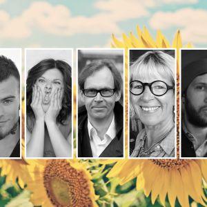 Kollage på kandidaterna för Lyssnarnas sommarpratare 2019