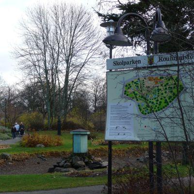 Skolparken i Jakobstad