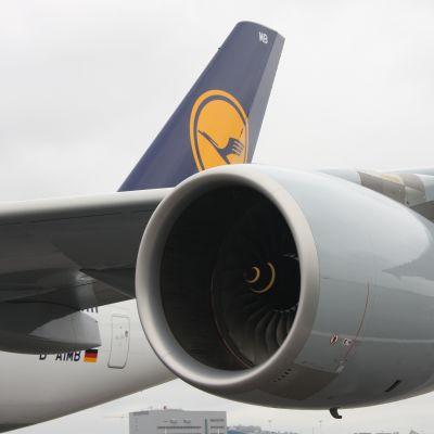 Flygplansmotor på A380:an