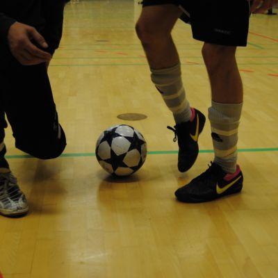 Futsalmatch 8.11.10: Ekenäs Sport Club mot Ruutupaidat från Vasa.