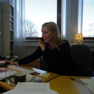 Akademilektor Anna-Greta Nyström vid Åbo Akademi