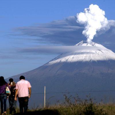 Vulkanen Popocatepétl i Mexico.