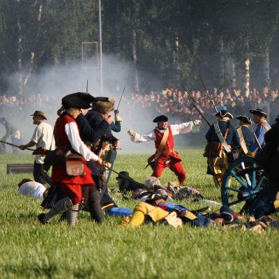 Taistelunäytöstä Isokyrössä vuonna 2014