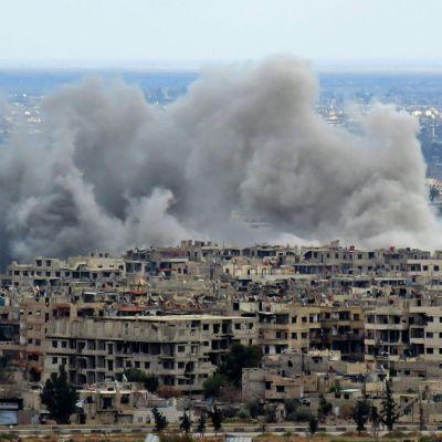 Bombning av östra Ghouta 27.2.2018.