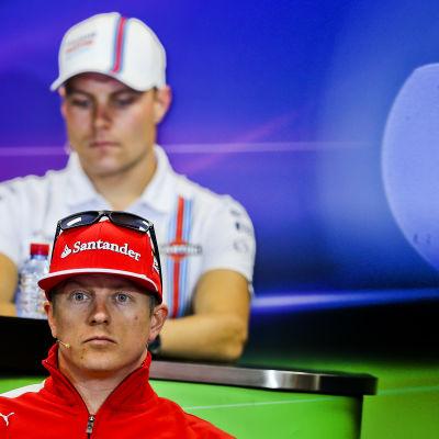 Valtteri Bottas och Kimi Räikkönen.